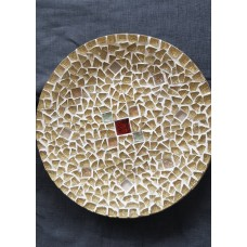 PLATTER WITH GOLD INSERTS