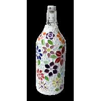 1 litre glass bottle - Floral Motifes