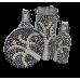 1 litre glass bottle - Life Tree